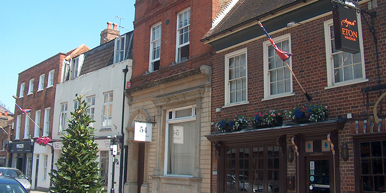 54 High Street Eton Windsor SL4 6BL – Most Attractive Characterful Ground Floor Offices To Let With Parking