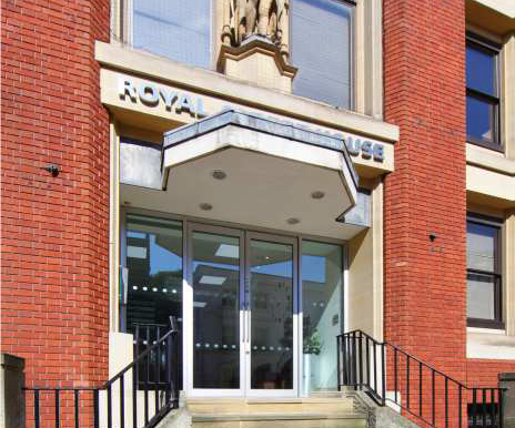 Royal Albert House entrance