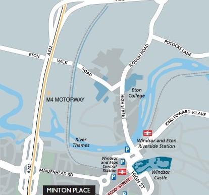 Minton Place map