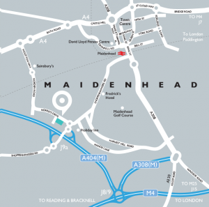 Maidenhead town centre map