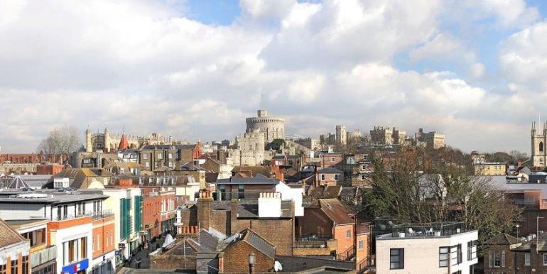 Windsor - Sheet Street - Royal Albert House - general aerial shot of Windsor