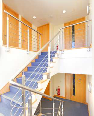 Charta House Staines floor access and landing